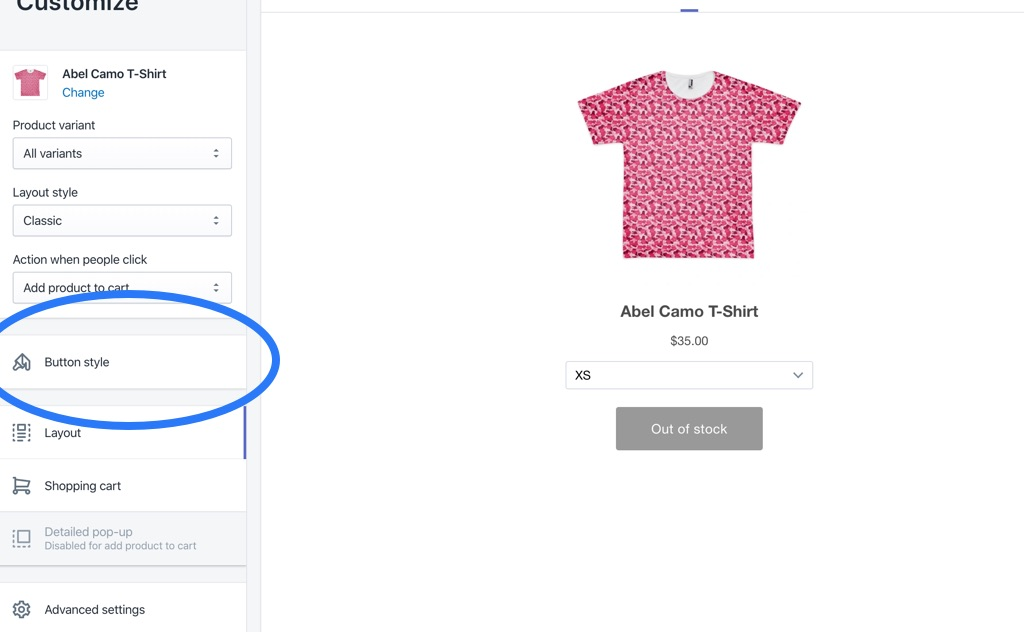 Customize Shopify Buy Button Landing Page